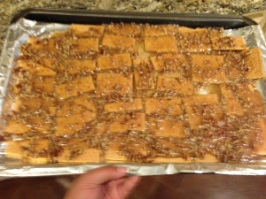 toffee bars cooked